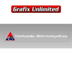 Windscreen Decal, Ford Australia We,re Moving With You 1