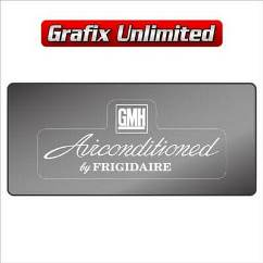 Windscreen Decal, GMH Airconditioned by Frigidaire