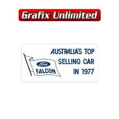 Windscreen Decal, Top Selling Car in 1977