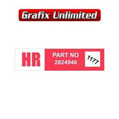 Wiper Motor Decal, HR Part Number 2824946