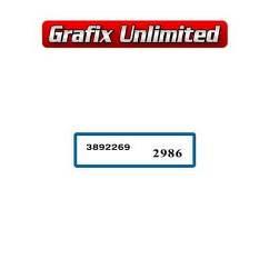 Wiper Motor Decal, Preslite 3892269