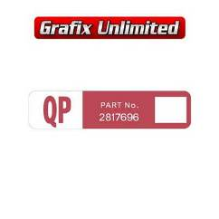 Wiper Motor Decal, QP Part Number 2817696
