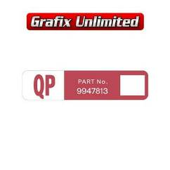 Wiper Motor Decal, QP Part Number 9947813