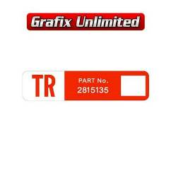 Wiper Motor Decal, TR Part Number 2815135